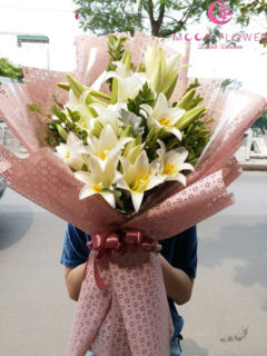 Bó hoa loa kèn trắng tại hà nội