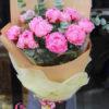 bó hoa mẫu đơn hồng