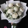 bó hoa mẫu đơn trắng