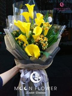 bó hoa sinh nhật hoa rum vàng