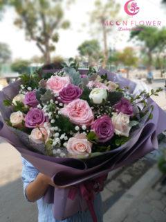 Bó hoa tặng sinh nhật cho phụ nữ hồng PINK OHARA