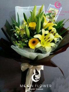 Bó hoa tặng sinh nhật hoa ly vàng