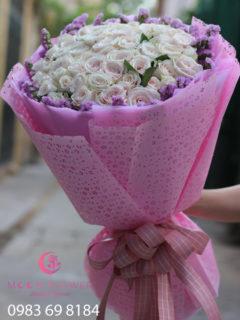 Bó hoa tặng sinh nhật người yêu hoa hồng phấn