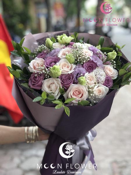 Bó hoa tặng sinh nhật nhẹ nhàng