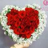 giỏ hoa hồng đỏ tặng người yêu, vợ