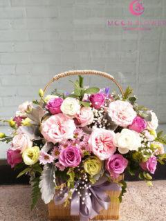 giỏ hoa hồng tặng sinh nhật tại hà nội