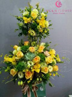 giỏ hoa tặng sinh nhật sếp