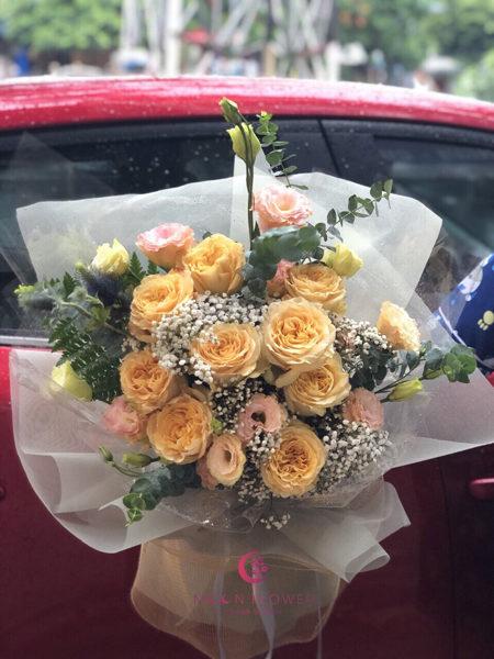 Bó hoa hồng ohara vàng