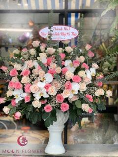 Bình hoa tặng 20 tháng 10 hồng sen hồng phấn - Ngọt Ngào