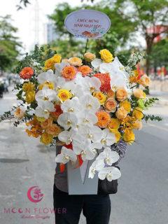 Bình hoa sinh nhật đẹp - Ấm áp vượng khí