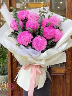Bó hoa cúc mẫu đơn nhập 10 bông - Tinh Tế