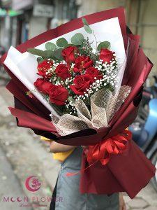 Bó hoa hồng đỏ - Quý Phái