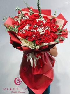 Bó hoa hồng đỏ đẹp Hà Nội - Đam mê cháy bỏng