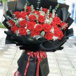 Bó hoa hồng đỏ tại Hà Nội- Khát khao