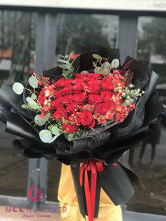 Bó hoa hồng đỏ tặng vợ - Tình yêu vĩnh cửu