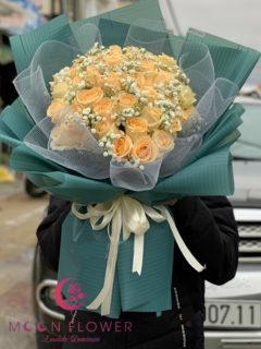 Bó hoa hồng kem vàng - Đặc Biệt