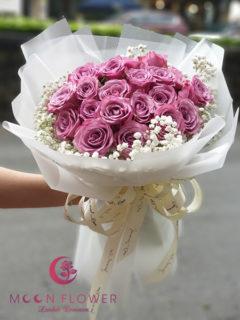 Bó hoa chúc mừng ngày 20/10 hồng tím - Thuỷ Chung