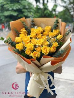 Đặt hoa 20/10 Hà Nội hồng vàng - Tươi Trẻ