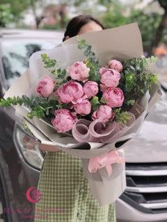Bó hoa mẫu đơn đẹp - Mộc Mạc