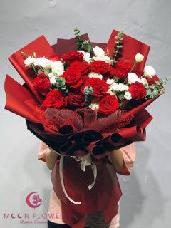 Bó hoa chúc mừng ngày 20/10 hồng đỏ - Tình Nồng