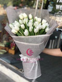 Bó hoa tulip trắng - Tinh Khôi Thuần Khiết