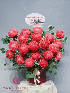 Giỏ hoa cúc mẫu đơn tại Hà Nội - Nồng Ấm