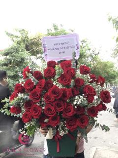 Giỏ hoa hồng đỏ đẹp - Sâu Sắc
