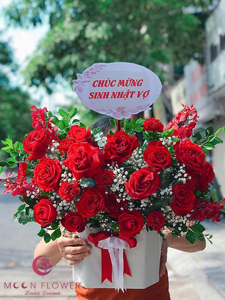 Đặt hoa 20/10 Hà Nội hồng đỏ - Hạnh Phúc