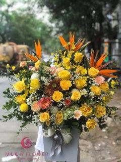 Giỏ hoa mừng sinh nhật - Gắn Kết