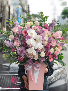Giỏ hoa sinh nhật - Ngây Thơ
