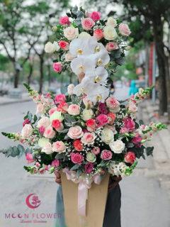 Giỏ hoa sinh nhật - Giàu sang phú quý