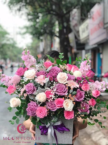 Giỏ hoa tặng vợ ngày 20/10 - Song Hành