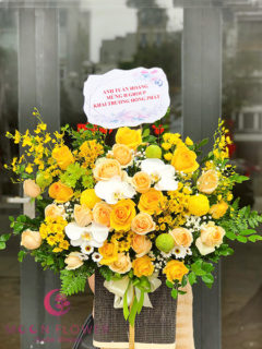 Giỏ hoa sinh nhật - Chân Thành