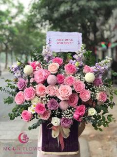 Giỏ hoa chúc mừng ngày 20/10 - Vì Yêu