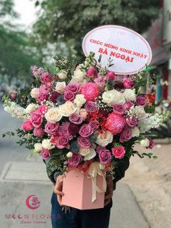Giỏ hoa tặng sinh nhật - Cao Quý