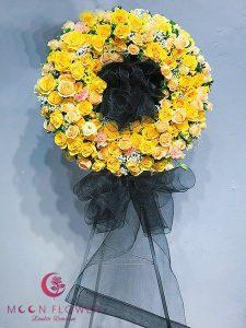 Vòng hoa hồng vàng tại Hà Nội - An Lạc